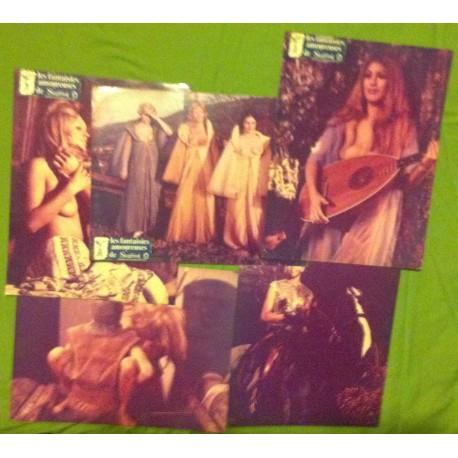 Les Fantaisies Amoureuses de Siegfried - Jeu de 5 photos - 1971 - Adrian Hoven / Sybil Danning