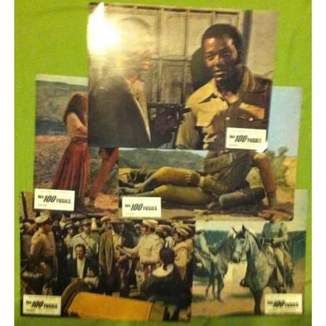 Les 100 Fusils - Jeu de 5 photos - 1969 - Tom Gries / Jim Brown / Raquel Welch / Burt Reynolds