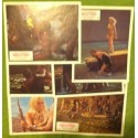 QUAND LES DINOSAURES DOMINAIENT LE MONDE - Jeu de 6 photos - 1970 - Val Guest / Victoria Vetri / Robin Hawdon