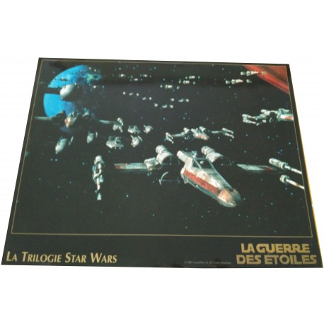 STAR WARS -Promo pour présenter la trilogie en 1997 - George Lucas, Mark Hamill, Harrison Ford, Carrie Fisher