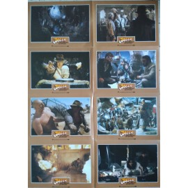 INDIANA JONES - LES AVENTURIERS DE L'ARCHE PERDUE - Jeu de 24 photos allemande ULTRA RARE - 1981 - Spielberg, Harrison Ford
