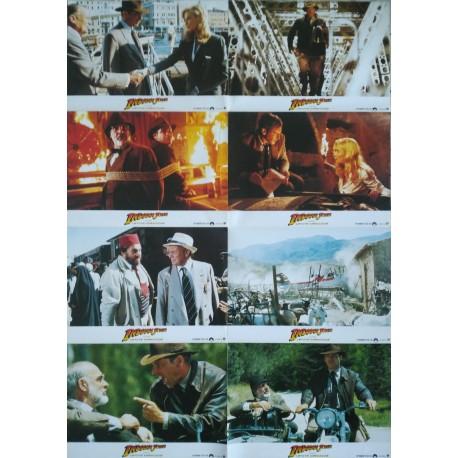 INDIANA JONES ET LA DERNIERE CROISADE - Jeu de 12 photos allemande Bloc B - 1989 - Spielberg, Harrison Ford, Sean Connery