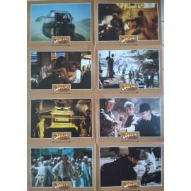 INDIANA JONES - AVENTURIERS DE L'ARCHE PERDUE - Jeu de 8 photos allemande RARE BLOC C - 1981 - Spielberg, Harrison Ford