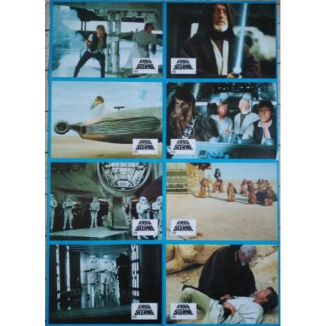 LA GUERRE DES ETOILES - Jeu de 8 photos allemande ULTRA RARE - 1977 - George Lucas, Mark Hamill, Carrie Fisher, Harrison Ford