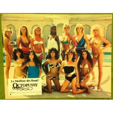OCTOPUSSY - James Bond - Jeu de 8 photos d'exploitations - 1983 - Roger Moore, Maud Adams, Louis Jourdan