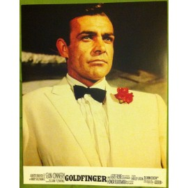 GOLDFINGER - James Bond - Jeu de 8 photos d'exploitations - 1964 - Sean Connery, Gert Frobe, Honor Blackman