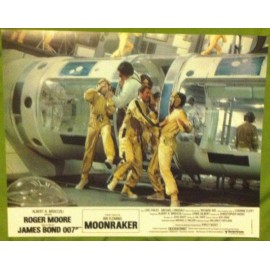 MOONRAKER - James Bond - Jeu de 8 photos d'exploitations - 1979 - Roger Moore, Lois Chiles, Michael Lonsdale