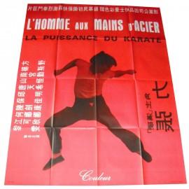 L'HOMME AUX MAINS D'ACIER - Affiche originale - 1971 - Joseph Velasco, Lik Cheung, Yeh Fang, Bolo Yeung