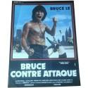 BRUCE CONTRE-ATTAQUE - Affiche originale - 1982 - Bruce Le, Jang Lee Hwang, Harold Sakata