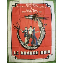 LE DRAGON NOIR - Affiche Originale - 1974 - Jim Babb, Dick Chan, Larry Chiu, Jimmy Lee