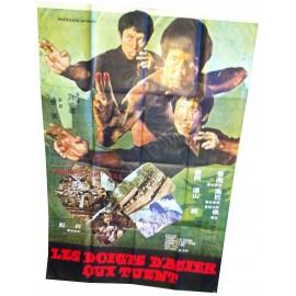 LES DOIGTS D'ACIER QUI TUENT - Affiche originale - 1972 - Wong Tin Lam, Thompson Kao Kang, Tony Liu Jun Guk, Jason Pai Piao