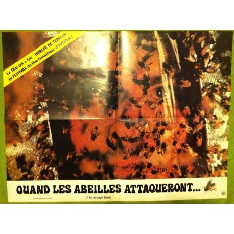 QUAND LES ABEILLES ATTAQUERONT… - Affiche originale - 1976 - Bruce Geller, Ben Johnson, Michael Parks, Paul Hecht
