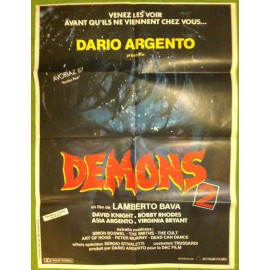 DEMONS 2 - Affiche originale - 1986 - Lamberto Bava, Dario Argento, David Edwin Knight, Nancy Brilli,