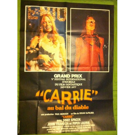 CARRIE AU BAL DU DIABLE - Affiche originale - 1976 - Brian De Palma, Sissy Spacek, Piper Laurie, Amy Irving