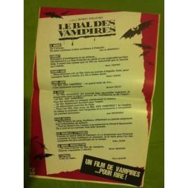 LE BAL DES VAMPIRES - Affiche originale - 1967 - Roman Polanski, Jack MacGowran, Roman Polanski, Alfie Bass