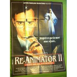 RE-ANIMATOR 2 - Affiche originale - 1989 - Brian Yuzna, Jeffrey Combs, Bruce Abbott, Claude Earl Jones