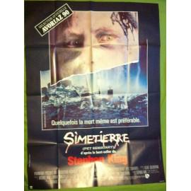 SIMETIERRE - Affiche originale - 1989 - Mary Lambert, Dale Midkiff, Denise Crosby, Fred Gwynne