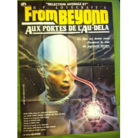 FROM BEYOND - Affiche originale - 1986 - Stuart Gordon, H.P. Lovecraft, Jeffrey Combs, Barbara Crampton