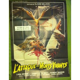 L'ATTAQUE DES MORTS-VIVANTS - Affiche originale - 1987 - Claudio Lattanzi, Lara Wendel, Robert Vaughn, Timothy W. Watts