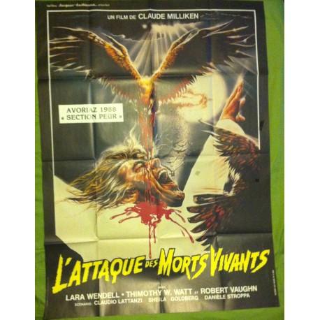 L'ATTAQUE DES MORTS-VIVANTS - Affiche originale - 1987 - Claudio Lattanzi, Lara Wendel, Robert Vaughn, Timothy W. Watts