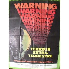 TERREUR EXTRATERRESTRE - Affiche originale - 1980 - Greydon Clark, Jack Palance, Martin Landau, Tarah Nutter