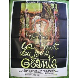 LA NUIT DES VERS GEANTS - Affiche originale - 1976 - Jeff Lieberman, Don Scardino, Patricia Pearcy, R.A. Dow