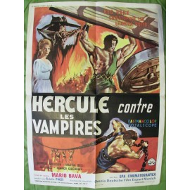 HERCULE CONTRE LES VAMPIRES - Affiche originale - 1961 - Mario Bava, Christopher Lee, Reg Park, Leonora Ruffo