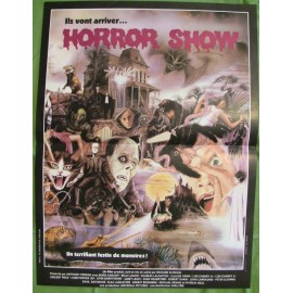 THE HORROR SHOW - Affiche originale - 1979 - Boris Karloff, Bela Lugosi, Lon Chaney, Vincent Price, Christopher Lee