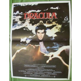 DRACULA - Affiche originale - 1979 - Laurence Olivier, Donald Pleasence, John Badham