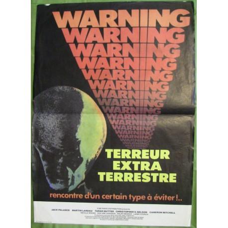 WARNING, TERREUR EXTRATERRESTRE - Affiche originale - 1980 - Greydon Clark, Jack Palance, Martin Landau, Tarah Nutter