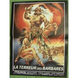 LA TERREUR DES BARBARES - Affiche originale - 1959 - Steve Reeves, Chelo Alonso, Bruce Cabot, Carlo Campogalliani