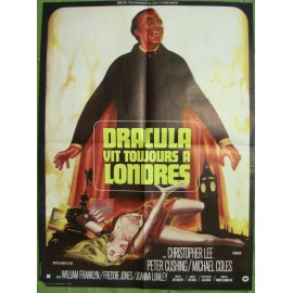 DRACULA VIT TOUJOURS A LONDRES - Affiche originale - 1973 - Christopher Lee, Peter Cushing, Michael Coles
