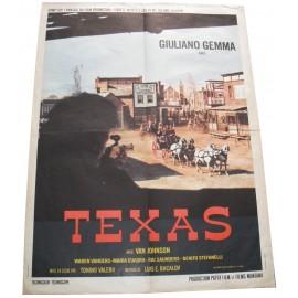TEXAS - Affiche originale - 1969 - Tonino Valerii, Giuliano Gemma, Warren Vanders, María Cuadra