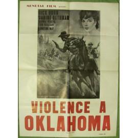 VIOLENCE A OKLAHOMA - Affiche originale - 1965 - Jaime Jesús Balcázar, Richard S. Hornbeck, José Calvo, Sabine Bethmann