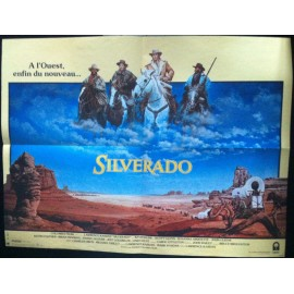 SILVERADO - Affiche originale - 1985 - Lawrence Kasdan, Kevin Costner, Danny Glover, Kevin Kline, Scott Glenn