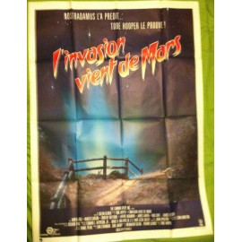 L'INVASION VIENT DE MARS - Affiche originale - 1986 - Tobe Hooper, Karen Black, Hunter Carson, Timothy Bottoms