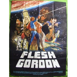 FLESH GORDON - Affiche originale - 1974 - Michael Benveniste, Suzanne Fields, Jason Williams, Joseph Hudgins