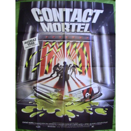 CONTACT MORTEL - Affiche originale - 1985 - Hal Barwood, Sam Waterston, Kathleen Quinlan, Yaphet Kotto