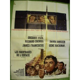 LES NAUFRAGES DE L'ESPACE - Affiche originale - 1969 - John Sturges, Gregory Peck, Richard Crenna, David Janssen, Gene Hackman