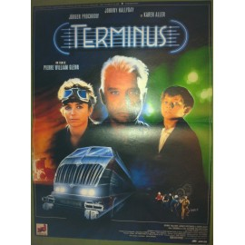 TERMINUS - Affiche originale - 1987 - Pierre-William Glenn, Johnny Hallyday, Karen Allen, Jürgen Prochnow