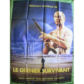 LE DERNIER SURVIVANT - Affiche originale - 1985 - Bruno Lawrence, Alison Routledge, Pete Smith, Geoffrey Murphy