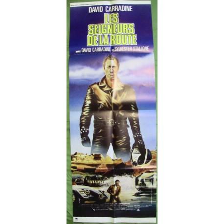 LES SEIGNEURS DE LA ROUTE (LA COURSE A LA MORT DE L'AN 2000) - Affiche originale - 1975 - David Carradine, Sylvester Stallone