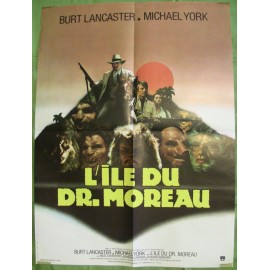 L'ILE DU DOCTEUR MOREAU - Affiche originale - 1977 - Don Taylor, Burt Lancaster, Michael York, Nigel Davenport