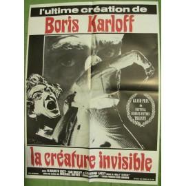 LA CREATURE INVISIBLE - Affiche originale - 1967 - Boris Karloff, Michael Reeves, Catherine Lacey, Elizabeth Ercy