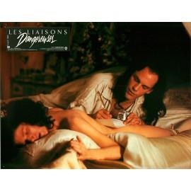 LES LIAISONS DANGEREUSES - Jeu de 4 photos d'exploitation - 1988 - John Malkovich, Michelle Pfeiffer, Stephen Frears