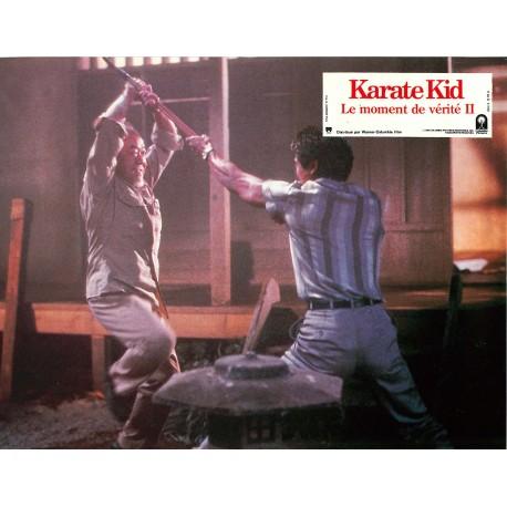 LE MOMENT DE VÉRITÉ II (KARATE KID) - Photo exploitation - 1986 - Ralph Macchio, Pat Morita