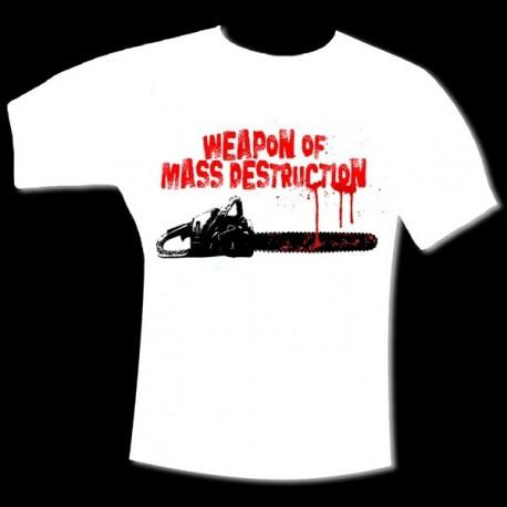 """T-Shirt """"WEAPON OF MASS DESTRUCTION"""" Blanc"""