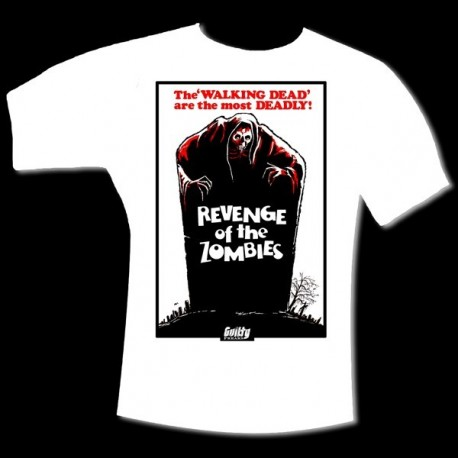 "T-Shirt Homme ""REVENGE OF THE ZOMBIES"" Blanc"