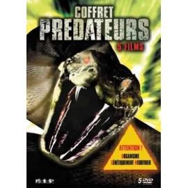 Coffret Prédateurs 5 DVDs : Python, Python 2, La Morsure, Snakes, Reptiles !