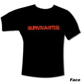 """T-Shirt du film """"SURVIVANT(S)"""" Noir"""